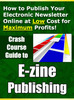 Thumbnail Crash Course Ezine Publishing