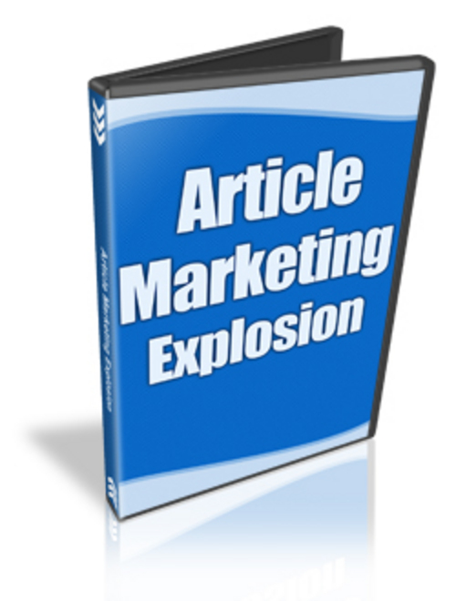 Product picture Article Marketing Explosion: The Video Series
